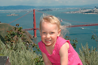 lucy and the golden gate bridge