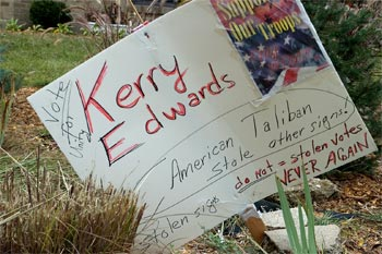 7 stolen Kerry-Edwards signs